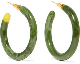 Cult Gaia Rhea Resin Hoop Earrings - Green