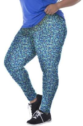Fruit of the Loom Fit for Me by Women's Plus Printed Performance Legging