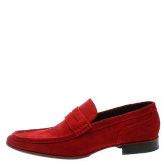 DSQUARED2 Red Suede Flats