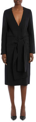 Victoria Beckham Front Tie Coat