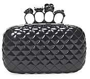 Alexander McQueen Women's Skull Four-Ring Matelassé Leather Box Clutch