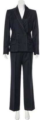 Dolce & Gabbana Striped Wool Pantsuit