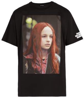 Raf Simons Christiane F. Photographic Print Cotton T Shirt - Mens - Black