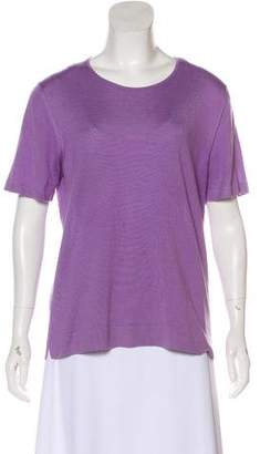 Malo Cashmere & Silk Short Sleeve Top