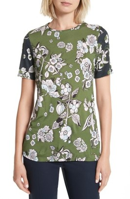 Women's Ted Baker London Adren Floral Print Tee $79 thestylecure.com