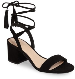 Women's Bp. Karla Block Heel Ankle Wrap Sandal $59.95 thestylecure.com