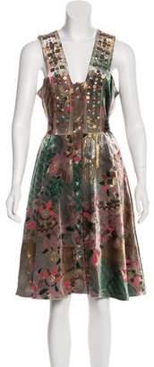 Matthew Williamson Jacquard Velvet Dress