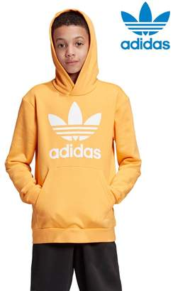 adidas Boys Gold Trefoil Overhead Hoody - Gold