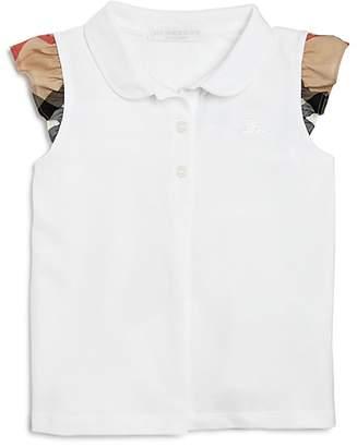 Burberry Girls' Mini Tia Ruffle Sleeve Polo Shirt - Baby