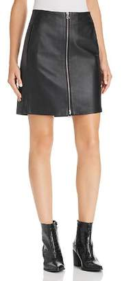 Rag & Bone Heidi Zip-Front Leather Skirt