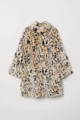 H&M Faux Fur Coat - White