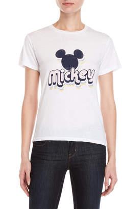 David Lerner White Mickey Mouse Tee
