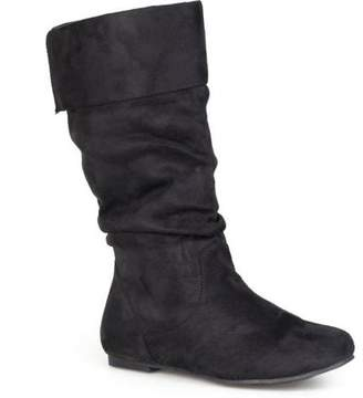 Brinley Co. Women's Wide Calf Microsuede Slouch Boots