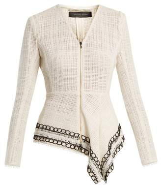 Roland Mouret Hayton Open Weave Cotton Jacket - Womens - White