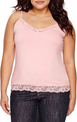 ARIZONA Arizona Lace-Trim Cami - Juniors Plus $18 thestylecure.com