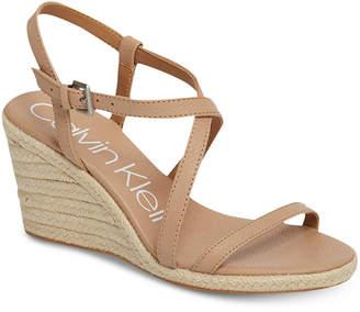 Calvin Klein Women's Bellemine Wedge Sandals Women's Shoes