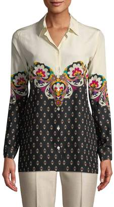 Etro Women's Printed Collared Blouse