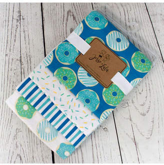Lulu Jesse Infant 4 Pack Receiving Blankets, Donut