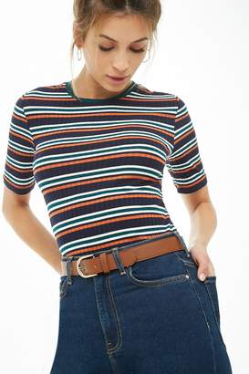 Forever 21 Striped Ribbed Tee