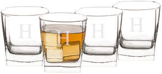 Cathy's Concepts CATHYS CONCEPTS Rocks Set of 4 Personalized Glasses