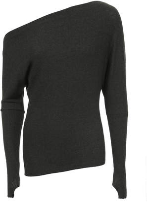 Enza Costa Off Shoulder Thumbhole Sweater