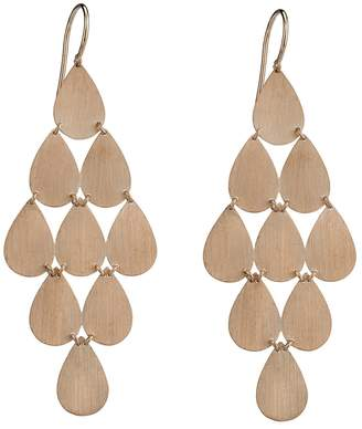 Irene Neuwirth Signature Large Teardrop Chandelier Earrings - Rose Gold