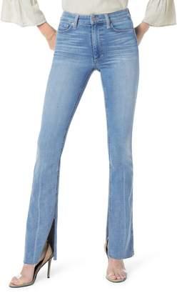 Joe's Jeans High Waist Vent Hem Microflare Jeans