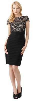 Adrianna Papell Banded Lace Sheath Dress