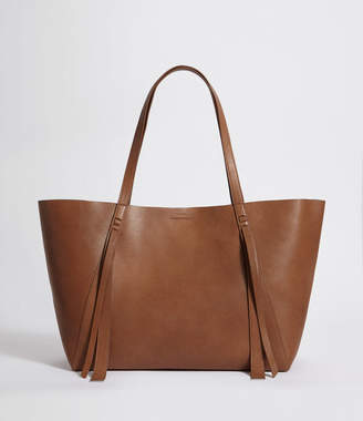 AllSaints Vincent Leather East West Tote Bag