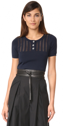 The Kooples Cropped Knit Pullover $195 thestylecure.com