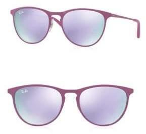 Ray-Ban Junior Mirrored Round Sunglasses