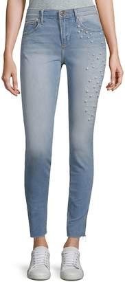 Driftwood Women's Jackie Skinny Pearl Embellished Jeans