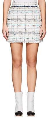 Thom Browne Women's Cotton-Blend Tweed Miniskirt