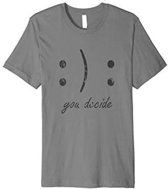 Happy or Sad Face You Decide Dark T-Shirt