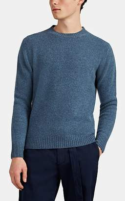 Barneys New York Men's Mélange Cashmere Crewneck Sweater - Blue