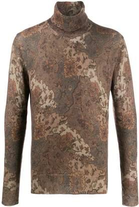 Etro paisley print roll-neck sweater