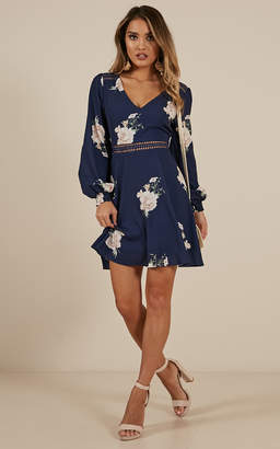 Showpo Beautiful Escape dress in navy floral
