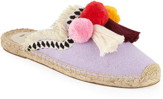 Soludos Coco Pompom Flat Mules