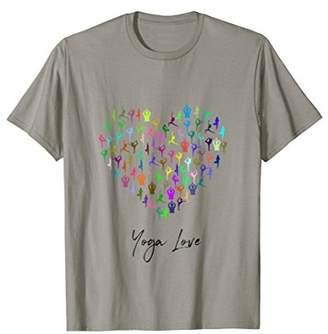 Yoga T-shirt for Women Heart of Poses Yoga Love