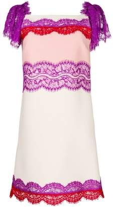 Emilio Pucci lace insert straight dress