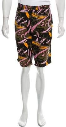 Y-3 Five Pocket Abstract Print Shorts