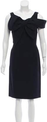 Aquilano Rimondi Aquilano.Rimondi Bow-Accented Wool-Blend Dress
