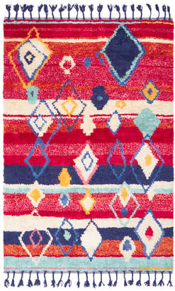 Kas Red Alvar Cotton & Wool Rug