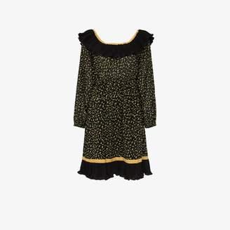 By Ti Mo By Timo Bardot ruffled trim dress