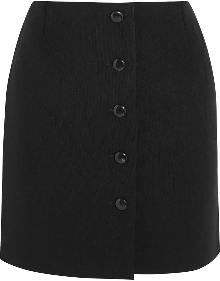 TOM FORD Stretch-wool crepe mini skirt