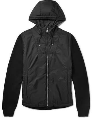 Prada Virgin Wool-Blend And Nylon Hooded Jacket