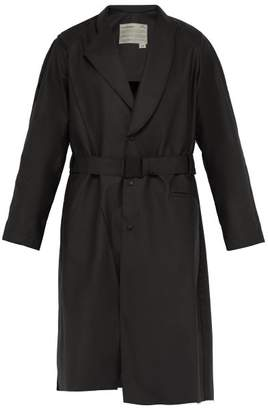 A-Cold-Wall* A Cold Wall* Waxed Trench Coat - Mens - Black
