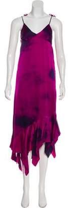 Marques Almeida Marques' Almeida Silk Patterned Midi Dress w/ Tags