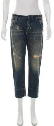 Pierre Balmain Distressed Mid-Rise Jeans