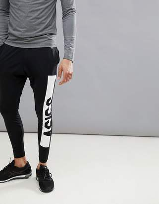 Asics Training Fitted Knit Tapered Joggers In Black 146387-0904